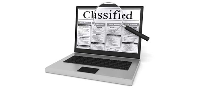 Classified Ad Header